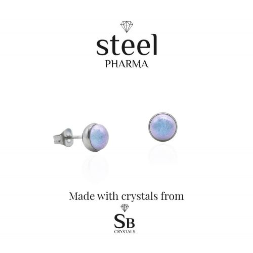 perla light blue pendientes antialergicos
