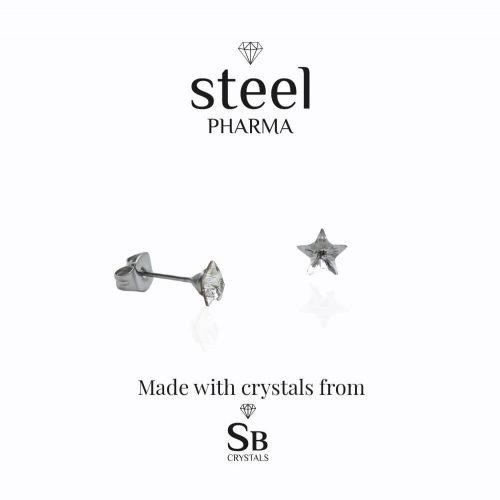 estrella cristal pendientes