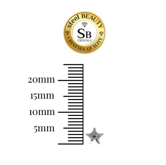 milimetros pendientes swarvoski estrella cristal